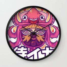Samurai Squid Wall Clock