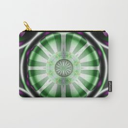 Pinwheel Hubcap in Green Carry-All Pouch