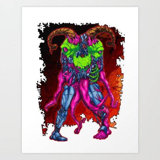 METAL MUTANT 3 Art Print