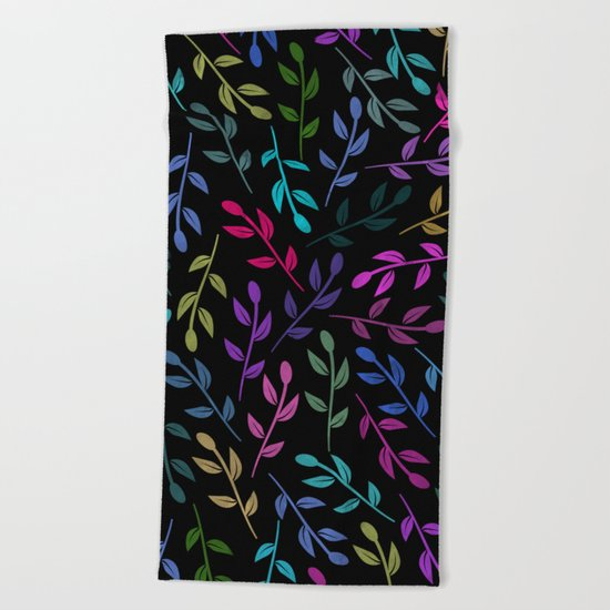 Colorful Leaves V Beach Towel