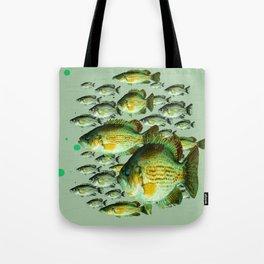 GREENISH  SEA BASS FISHING GRAPHIC Tote Bag