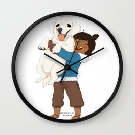 Best Friends | Korra and Naga Wall Clock
