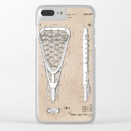 patent art Tucker Lacrosse stick 1967 Clear iPhone Case
