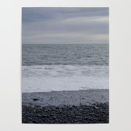 Iceland Calm Sea Black Beach - Vik Poster