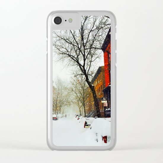 NYC @ Snow Time Clear iPhone Case