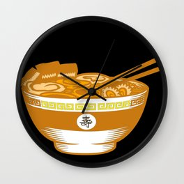 Super Delicious Food Japanes Noodles Ramen Design Wall Clock