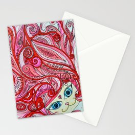 Cherry Red Cat Stationery Cards
