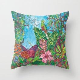 The Three Secrets of the Selva Throw Pillow