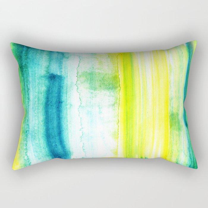 Swimming Upstream Rectangular Pillow