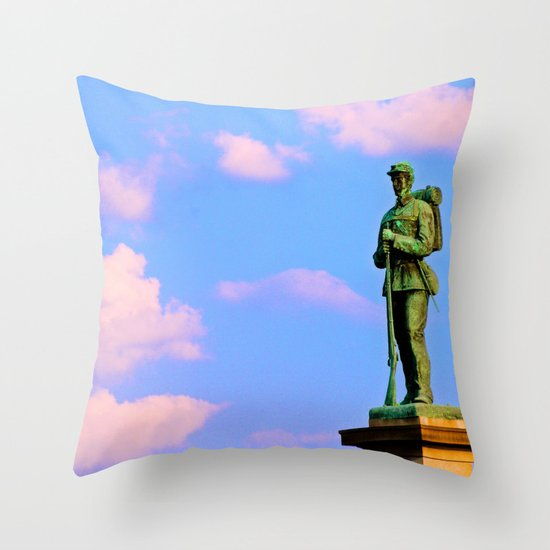 Still On Guard Throw Pillow