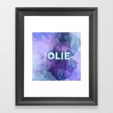 Jolie Framed Art Print