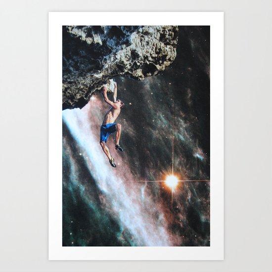 He climbed so slowly Art Print