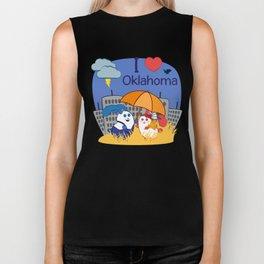 Ernest and Coraline | I love Oklahoma Biker Tank
