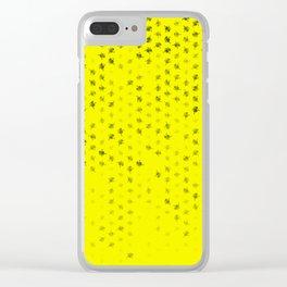 leo zodiac sign pattern yb Clear iPhone Case