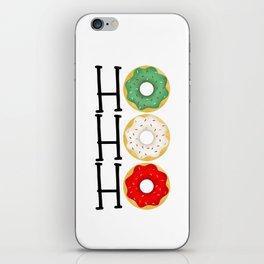 Ho Ho Ho - Holiday Donuts iPhone Skin