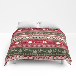 Santa Claus Ugly Sweater Comforters