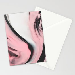 Modern pink marble and black Stationery Cards