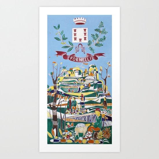 Fornelli, Italy Art Print
