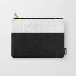 Color Block-Black and White Carry-All Pouch