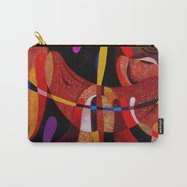Abstract red expression Carry-All Pouch