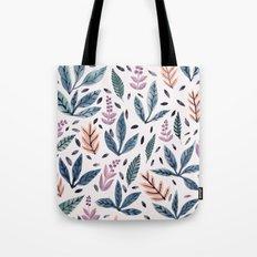 Painted Leaves Tote Bag