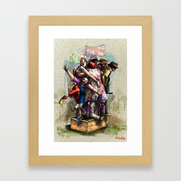 """African+British """"Red Nose Day"""" Framed Art Print"""