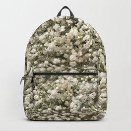 White Linen Baby's Breath Backpack