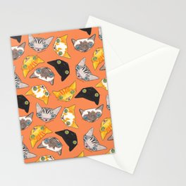 """""""Oro?"""" Cats-Salmon Color Stationery Cards"""