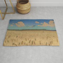 'Fields of Gold' landscape painting by Agnes Slott-Møller Rug