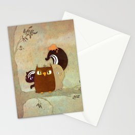 Critters in a Tree Stationery Cards