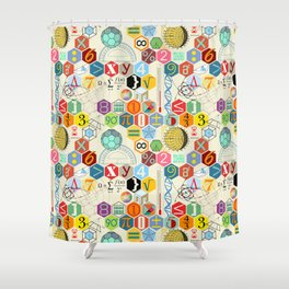 Math in color (little) Shower Curtain