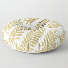Gold Leaflets Floor Pillow