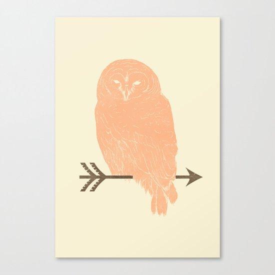 Owl and Arrow Canvas Print