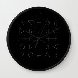 Sator Square Wall Clock