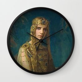 """Gaston Bussiere (French, 1862-1929), """"Isolde"""". Wall Clock"""