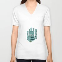 castle in the sky V-neck T-shirts featuring Sky castle simple by loligo