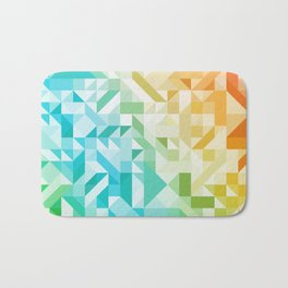 Colorful Geometric Pattern Saturated Rainbow Pattern Design (Red Pink Orange Yellow Green Blue) Bath Mat