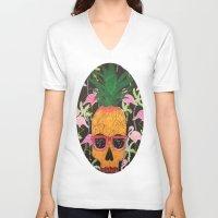 spongebob V-neck T-shirts featuring Spongebob by Paula Bridgewater
