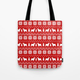 English Cocker Spaniel Silhouettes Christmas Sweater Pattern Tote Bag