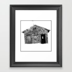 House on a Hill Framed Art Print