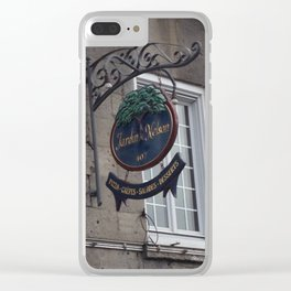 Old Montreal Sign Clear iPhone Case