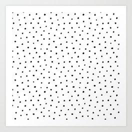 Polka Dots in Love Art Print