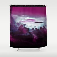 i want to believe Shower Curtains featuring I Want To Believe -Pink by minx267