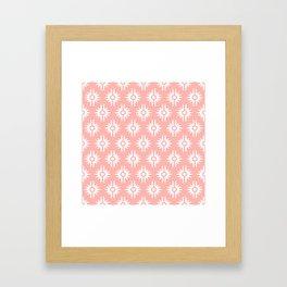Mid Century Modern Bang Pattern 271 Peach Framed Art Print