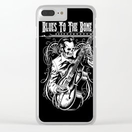 Blues to the Bone Rockabilly Clear iPhone Case