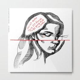 LDR: love Metal Print