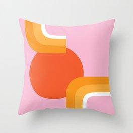 Rolling Sun Throw Pillow