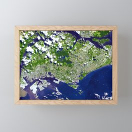 The Republic of Singapore a city-state off the southern tip of the Malay Peninsula Framed Mini Art Print