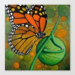 Monarch & Swan Plant Canvas Print