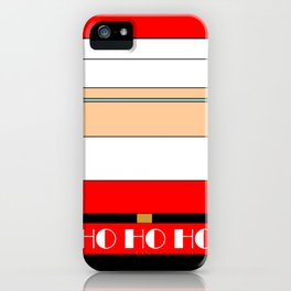 Minimalist Santa iPhone Case